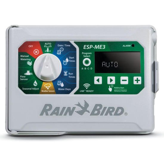 Rain Bird ESP-ME3 4 Station Modular Controller + Wireless Rain Sensor