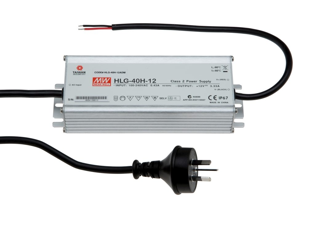 Mean Well 40W Weatherproof Driver 12V DC IP67 HLG-40H-12