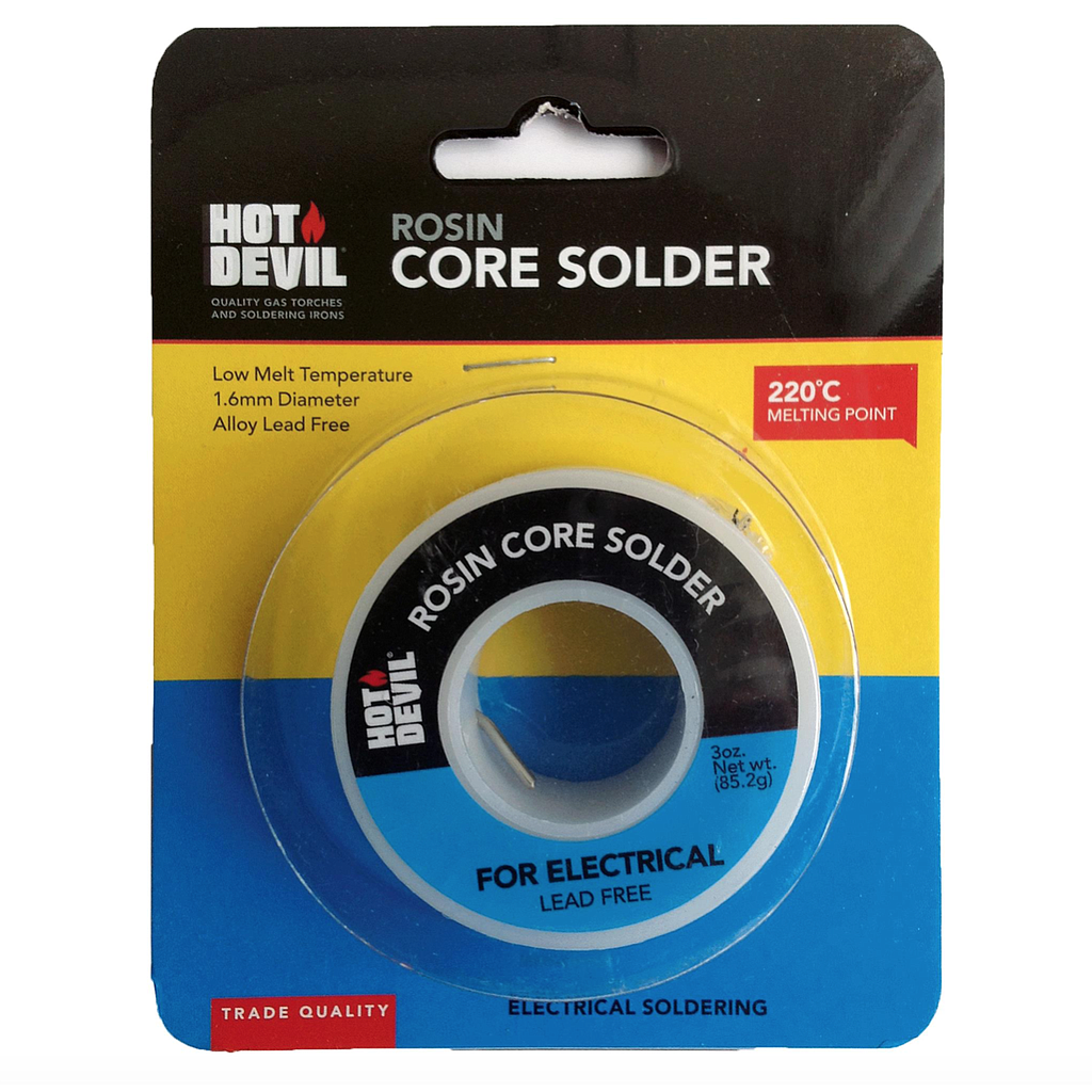 Hot Devil Rosin Core Solder