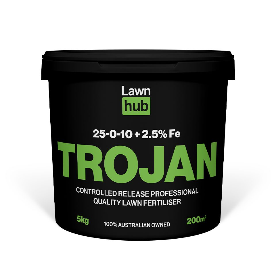Lawnhub Trojan 25:0:10+2.5% 5kg Lawn Fertiliser