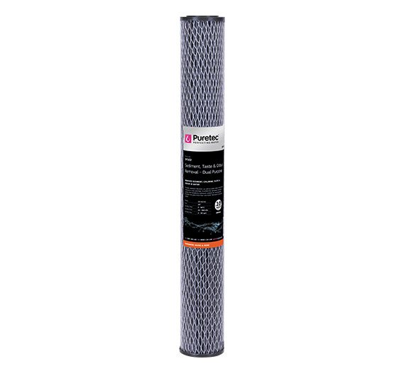 "Puretec 20"" x 2.5"" Dual Purpose Carbon 10 Micron Filter DP102"
