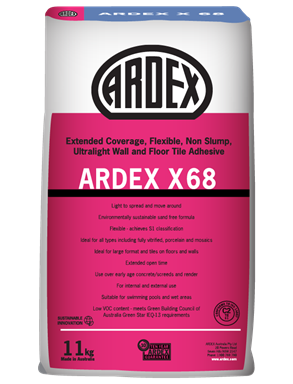 Ardex X68 Ultralight Tile Adhesive 11kg