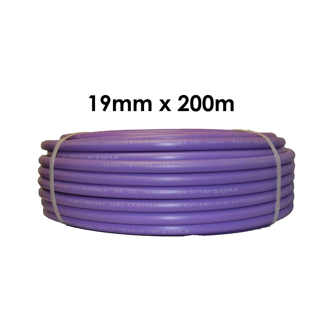 Poly Pipe 19mm x 200m Lilac LD