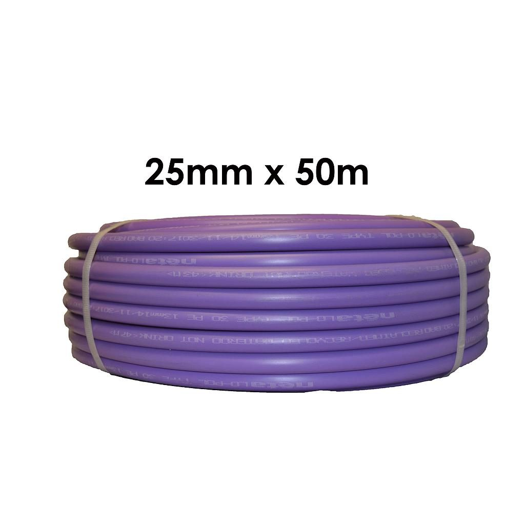 Poly Pipe 25mm x 50m Lilac LD
