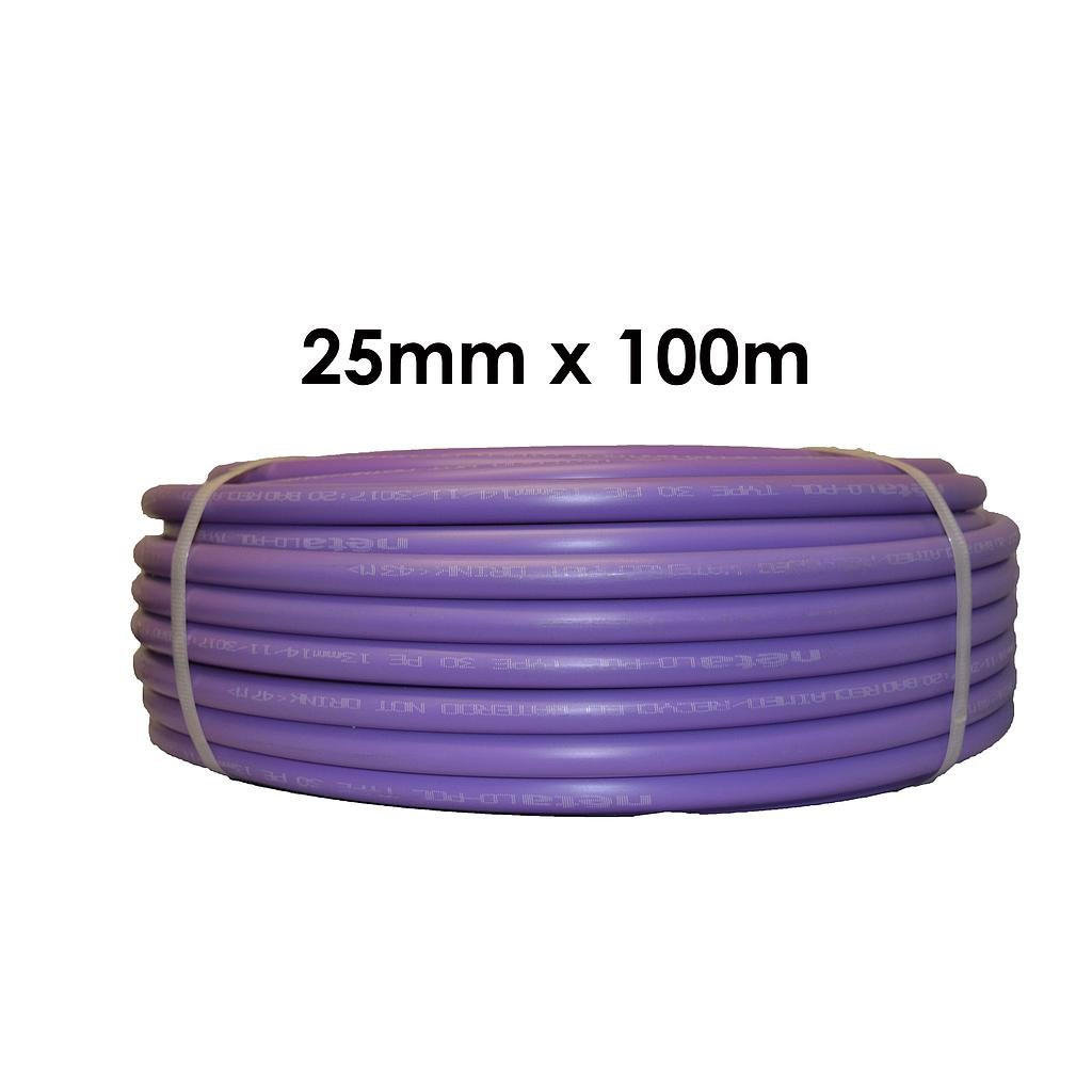 Poly Pipe 25mm x 100m Lilac LD