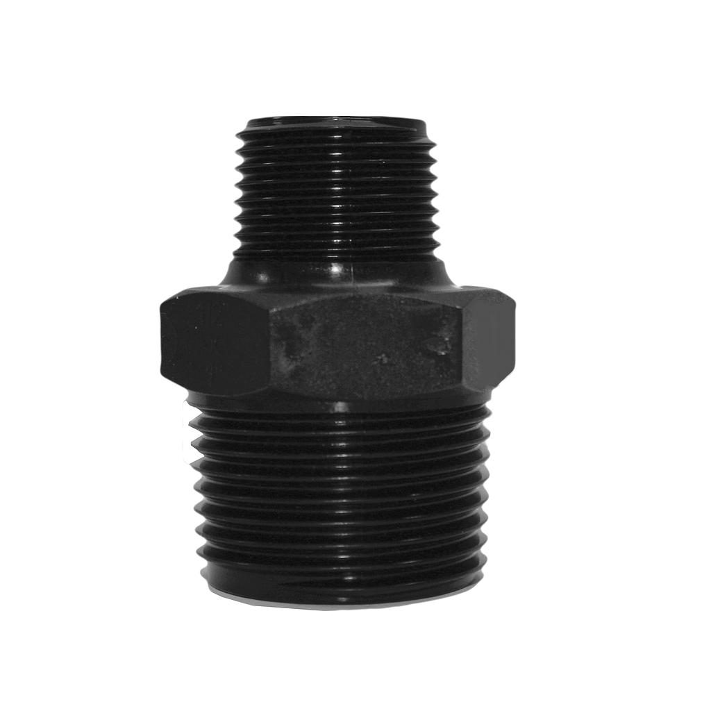 Poly Nipple Screwed 25mmx20mm