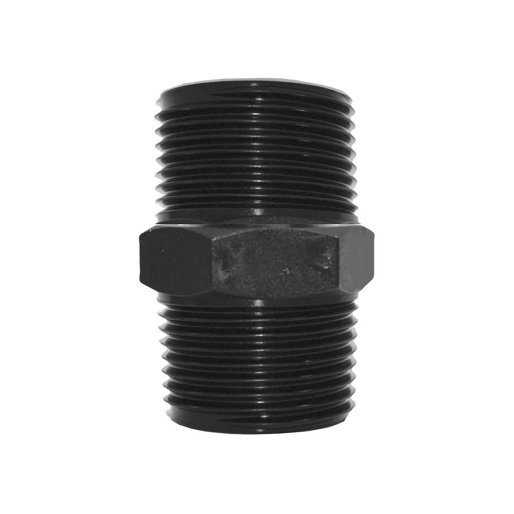 Poly Nipple Screwed 25mmx25mm