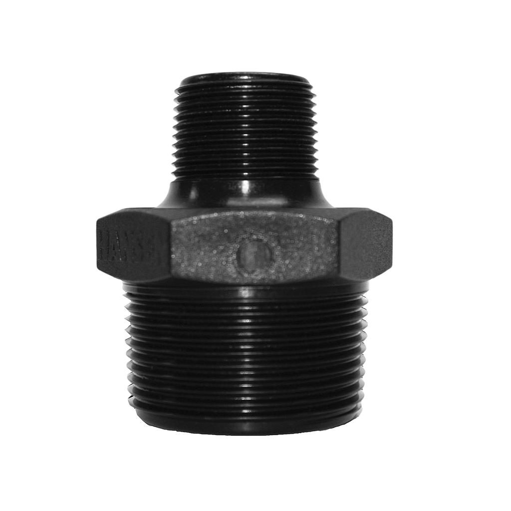 Poly Nipple Screwed 40mmx25mm