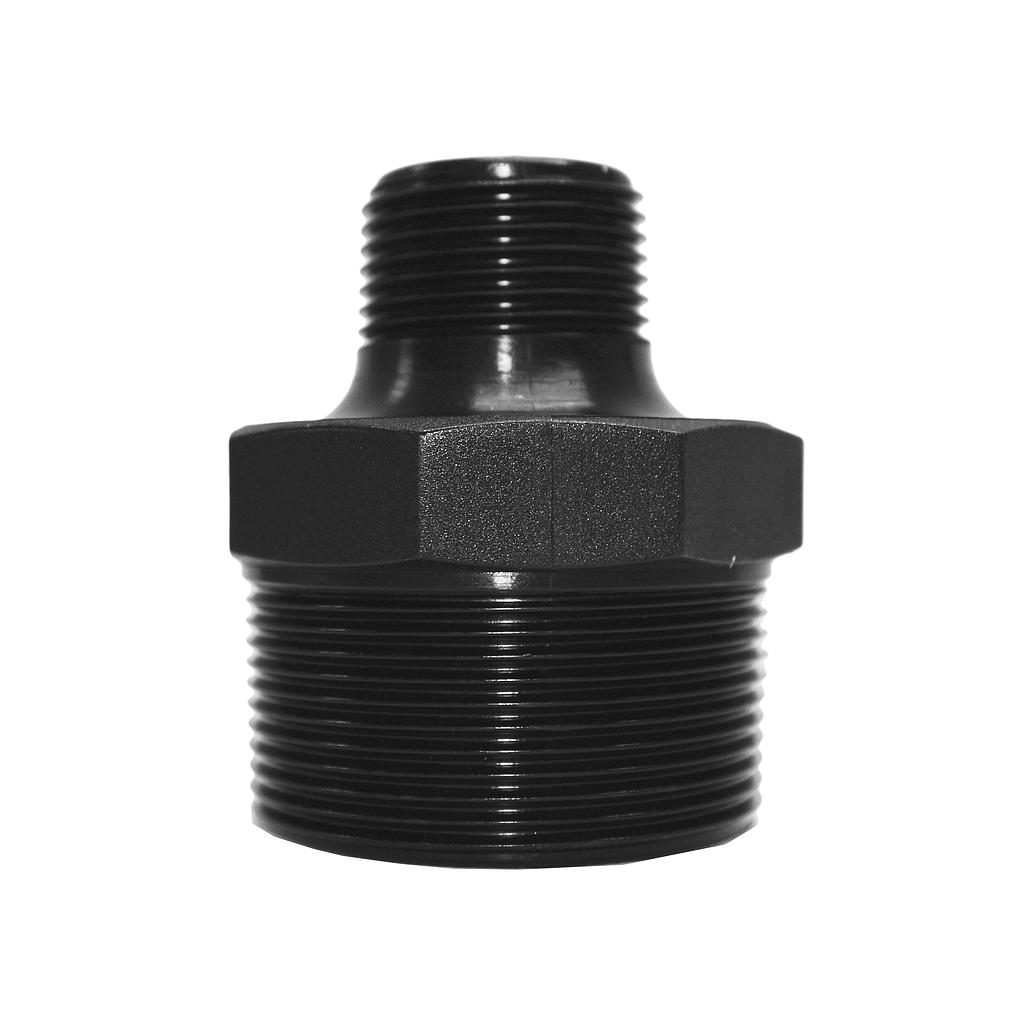 Poly Nipple Screwed 50mmx25mm