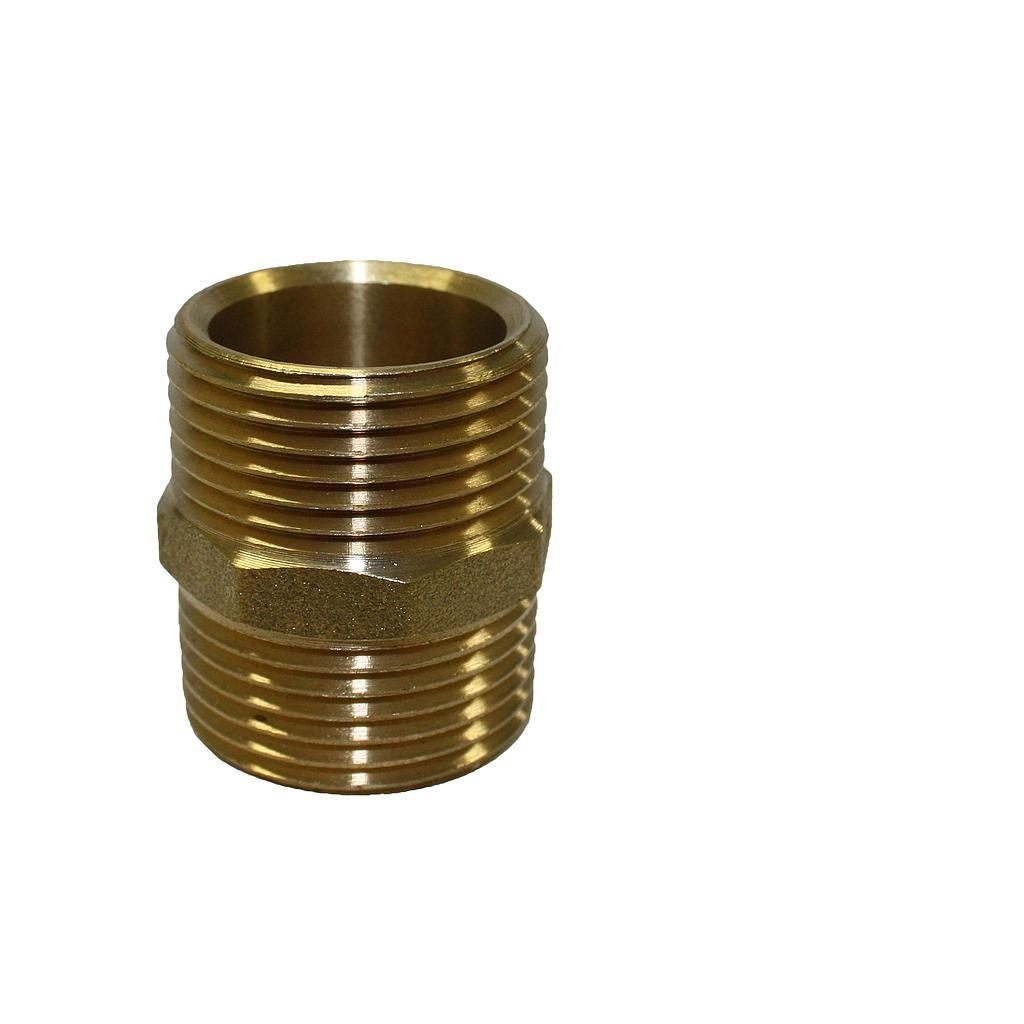 Brass Nipple 25mm x 25mm