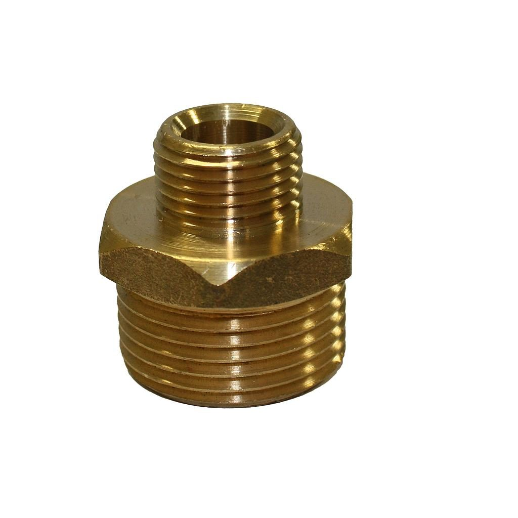 Brass Nipple 25mm x 15mm