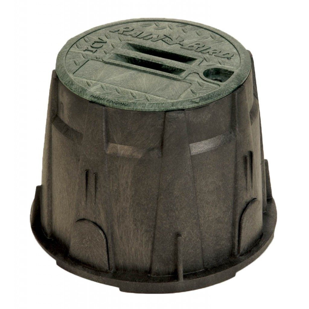 "Rain Bird Valve Box 10"" Round Green Lid"