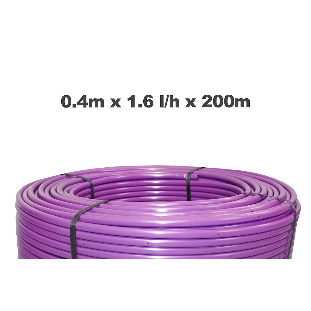 Netafim Techline AS 0.4m 1.6LPH 200m Purple