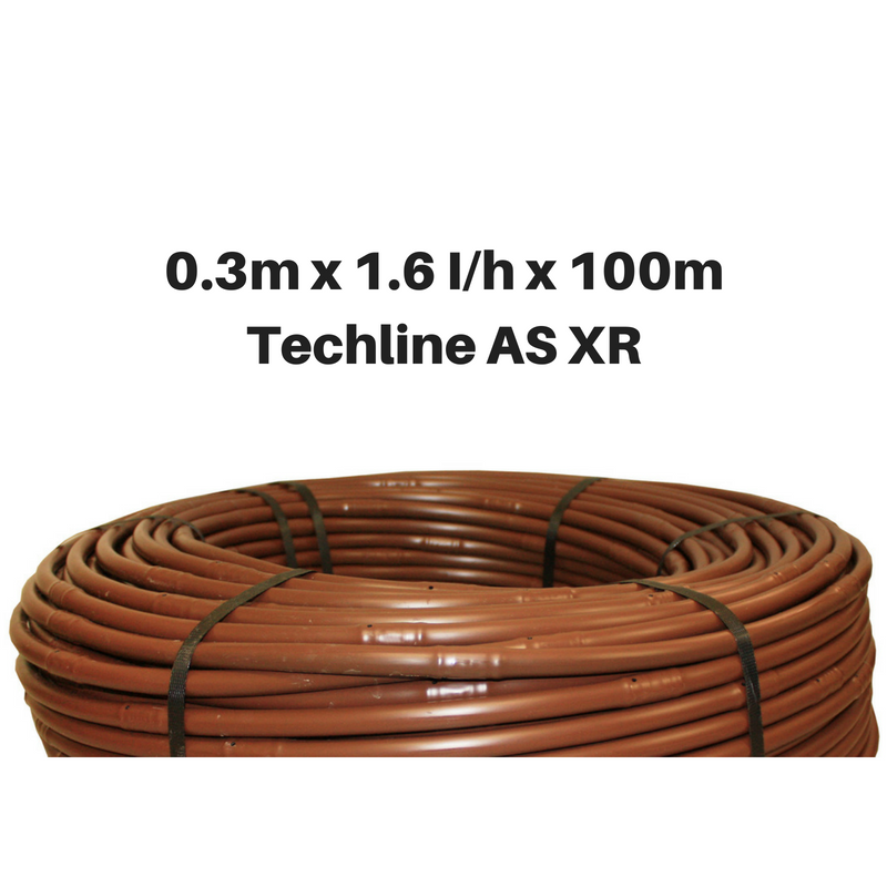 Netafim Techline AS XR 1.6lhr 0.3m 100m