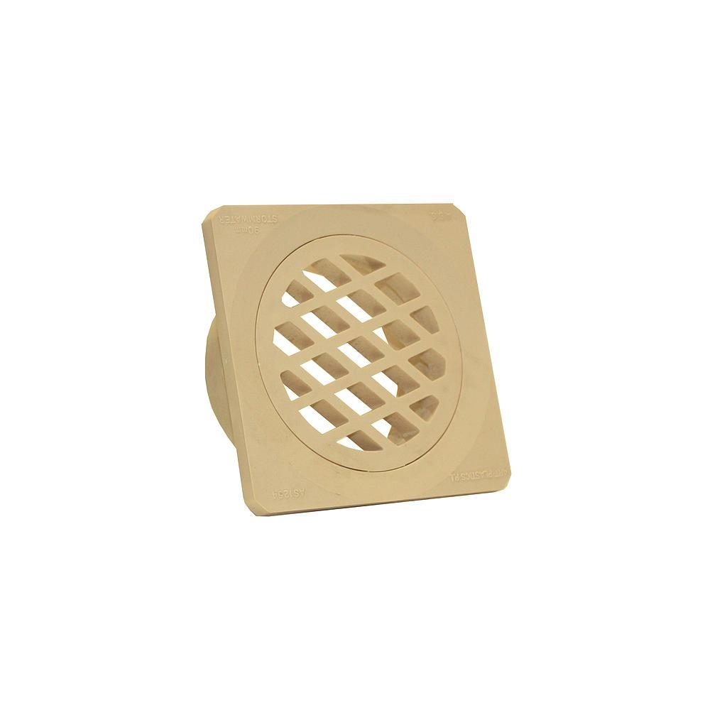 Grate Stormwater 90mm Square Sandstone