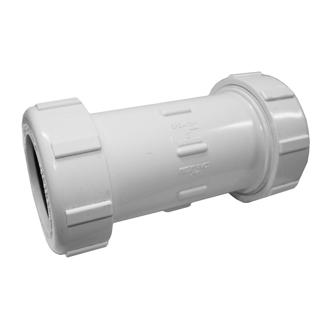 PVC Compression Coupling 50mm