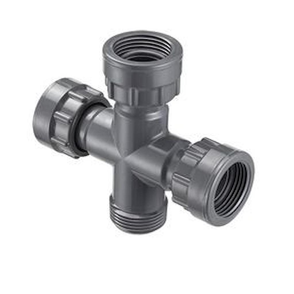 Manifold Spears 25MM Swivel Cross x MF